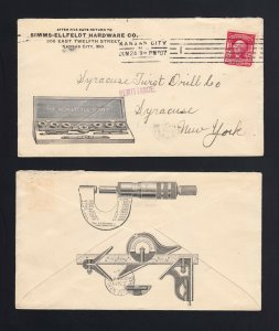 MISSOURI: Kansas City, MO 1907 Simms-Ellfeldt TAP & DIE Adv - Micrometer