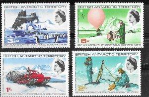 British Antarctic Terr.  # 20-23  Scientific Work (4)  Mint NH