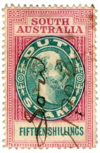(I.B) Australia - South Australia Revenue : Stamp Duty 15/-