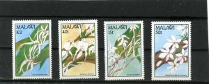 MALAWI 1990 FLORA FLOWERS ORCHIDS SET OF 4 STAMPS MNH