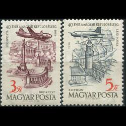 HUNGARY 1958 - Scott# C189-90 Buildings Set of 2 NH