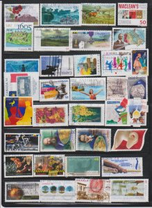LOT OF DIFFERENT STAMPS OF CANADA USED(35) LOT#322