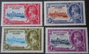 British Solomon Islands 1935 GV Silver Jubilee set SG 53/56 mint