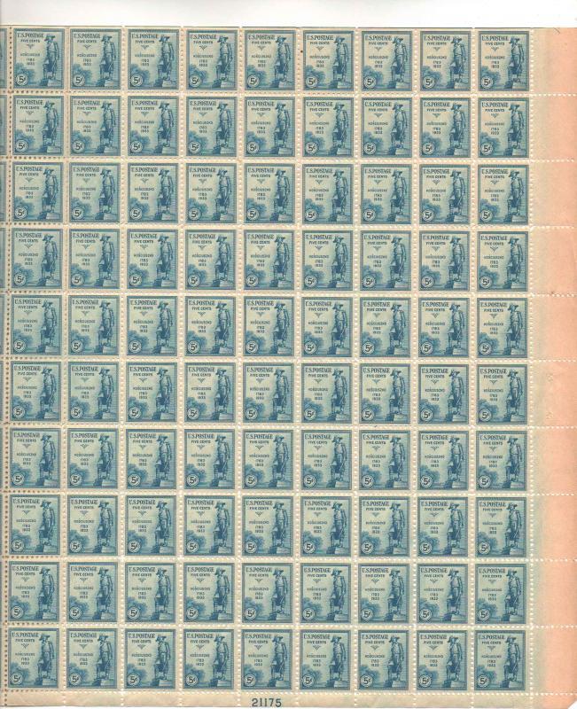 US 734 - 5¢ General Kosciuszko Unused