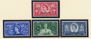 Great Britain, Offices In Morocco/Tangier Stamps Scott #579 To 582, Mint Hing...
