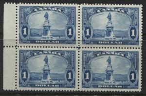 Canada KGV 1935 $1 Champlain block of 4 unmounted mint NH