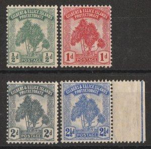 GILBERT & ELLICE ISLANDS : 1911 Pandanas set ½d-2½d. MNH **.