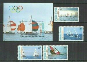 I375 1987 IVORY COAST OLYMPIC GAMES SEOUL 1988 #950-3+BL29 MICHEL 20 EURO FIX