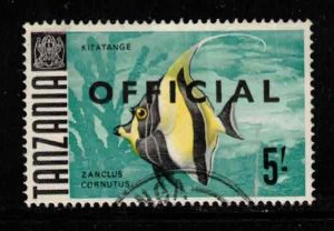 TANZANIA Scott # O16 Used - Fish - Kitatange With Overprint