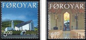 (CMA) Faroe Islands Scott #424-25 MNH Complete Set