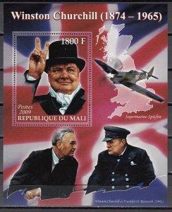 Mali, 2009 issue. Sir Winston Churchill s/sheet. ^