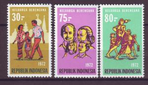 J21052 Jlstamps 1972 indonesia set mh #828-30 people