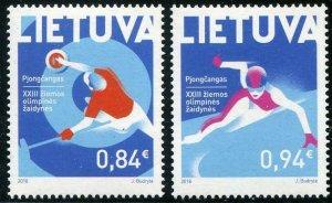 HERRICKSTAMP NEW ISSUES LITHUANIA PyeongChang 2018 Olympics