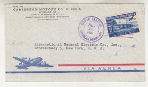 DOMINICAN REPUBLIC, 1951 Airmail cover, Ciudad Trujillo to USA.