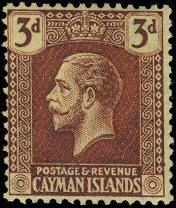 Cayman Islands Scott 64 Variety Gibbons 60aw Mint Stamp