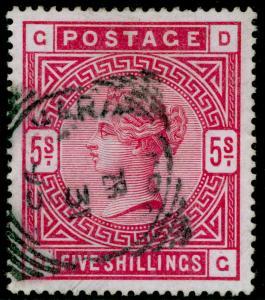 SG180, 5s rose, FINE used. Cat £250. DG