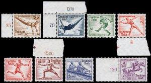 Germany Scott B82-B89 (1936) Mint NH VF Complete Set, CV $110.00 C