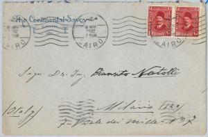 EGYPT  --  POSTAL HISTORY: AIRMAIL COVER to ITALY 1932