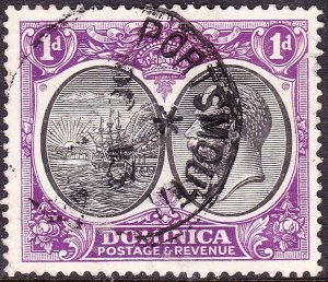 DOMINICA 1923 KGV 1d Black & Bright Violet SG72 Used