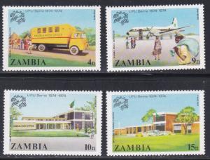 Zambia # 127-130, UPU Centennial, NH, 1/2 Cat.