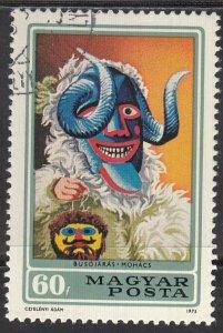 Hungary, Sc 2212, CTO-NH, 1973, Busho Mask
