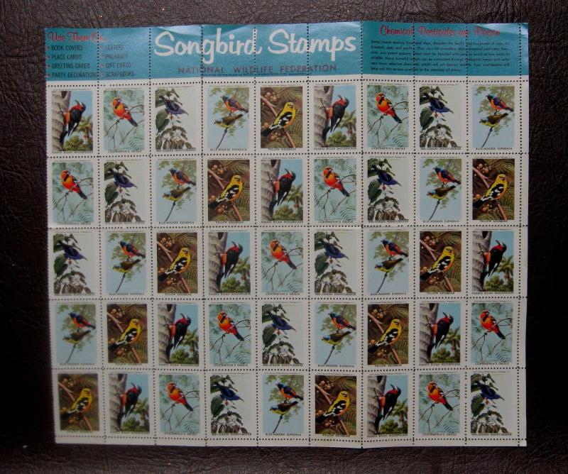 *A Rare Collection of National Wildlife Federation US Songbird Stamps from 1963*