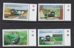 Zambia 363-66 MNH 1986 Trains (ap6699)