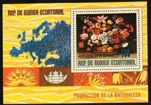 Equatorial Guinea #MiBl275 MNH S/S CV€6.00 European Flowers