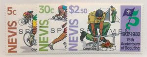Nevis Stamp Scott #156 To 158, Mint Never Hinged, Specimens - Free U.S. Shipp...