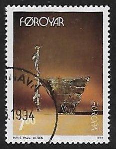Faroe Islands # 253 - Sculpture : Reflection - used