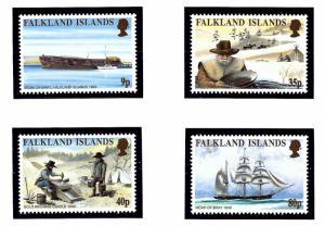 Falkland Is 745-48 MNH 1999 California Gold Rush