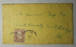 US Sc# 65 Used On Cover Clearfield or Fairfield IA 1863 Dated Postmark cancel