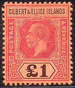 GILBERT & ELLICE #26 Mint Never Hinged, Scott $1,400.00