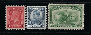 CANADA SCOTT #192-94 1932 IMPERIAL ECONOMIC CONFERENCE-  MINT HINGED