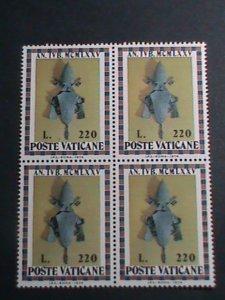 VATICAN CITY-1974 SC#570-ARMS OF JOHN PAUL VI-MNH BLOCK- VERY FINE