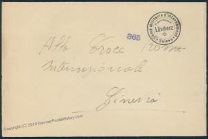 Switzerland WWII Internee Camp Luescherz Prisoner Cover Censored 53825