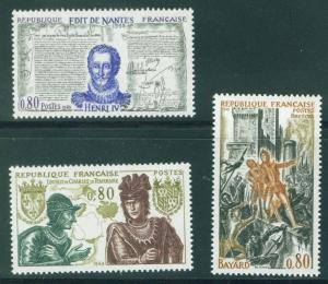 FRANCE Scott 1260-62 MNH** 1969 History set