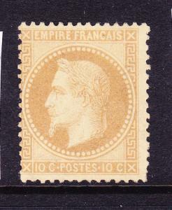 FRANCE 1863-70  10c BISTRE NAPOLEAN MNH  TYPE B Sg 113a  Sc 32