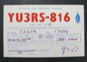 6507 Amateur Radio QSL Card Partizanska Cesta Slovenia