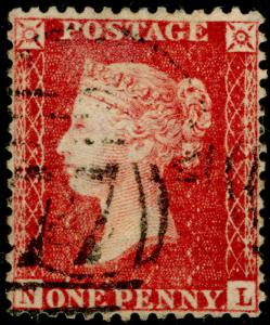 SG40, 1d rose-red, LC14, FINE USED. Cat £12. NL