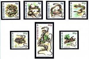 Gibraltar 864-70 MNH 2000 Snakes   (KA)