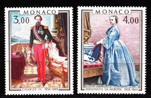 Monaco 1187-9 mnh set