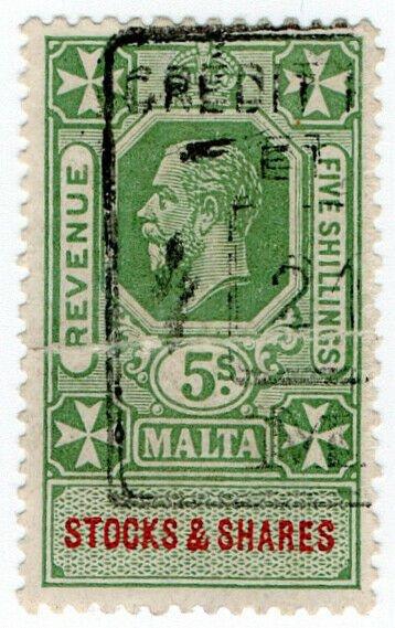 (I.B) Malta Revenue : Stocks & Shares 5/-