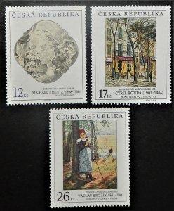 Czech Republic 3160-62. 2001 Paintings, NH