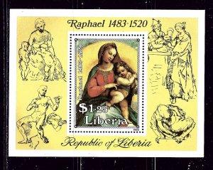 Liberia 981 MNH 1984 Raphael Painting S/S