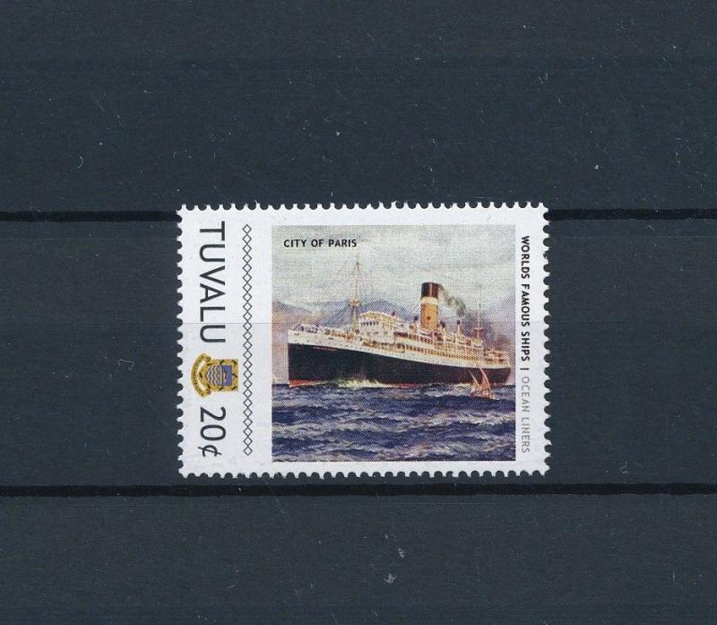 [81229] Tuvalu 2011 Ships Boats City of Paris Ocean Liners Ellerman Lines MNH