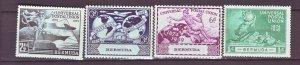J22175 Jlstamps 1949 bermuda set mnh #138-41 upu