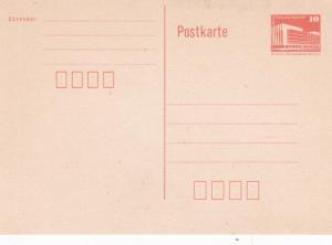 East Germany 10pfg Prepaid Postcard Unused VGC