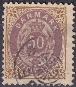 Denmark #51  F-VF Used CV $24.00 (A19302)