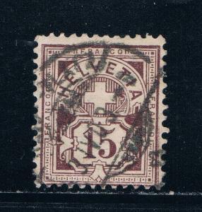 Switzerland 118 Used Numeral 1905 (S0753)